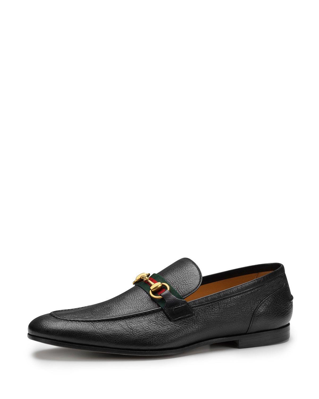 bcdb694d324 Gucci Elanor Leather Horsebit Loafer
