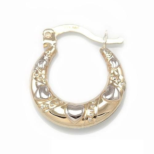 Price Is Per Pair Description 1 10 Of 10k Gold 9 10 Of Silver Puff D C Ea Silver Hoop Earrings Jewelry Collection Sterling Silver Hoop Earrings