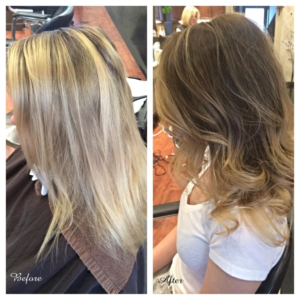 Before After Transformation Done By Nicole At Mfpsalon Color Ombre Bayalage Organic All Nutrient Elm Hair Beauty Keratin Treatment Childrens Haircuts