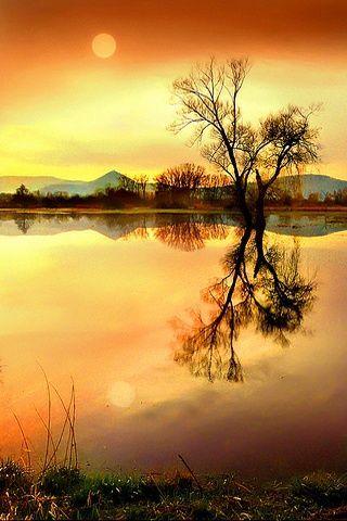 Peaceful Evening Beautiful Landscapes Natural Scenery Beautiful Nature