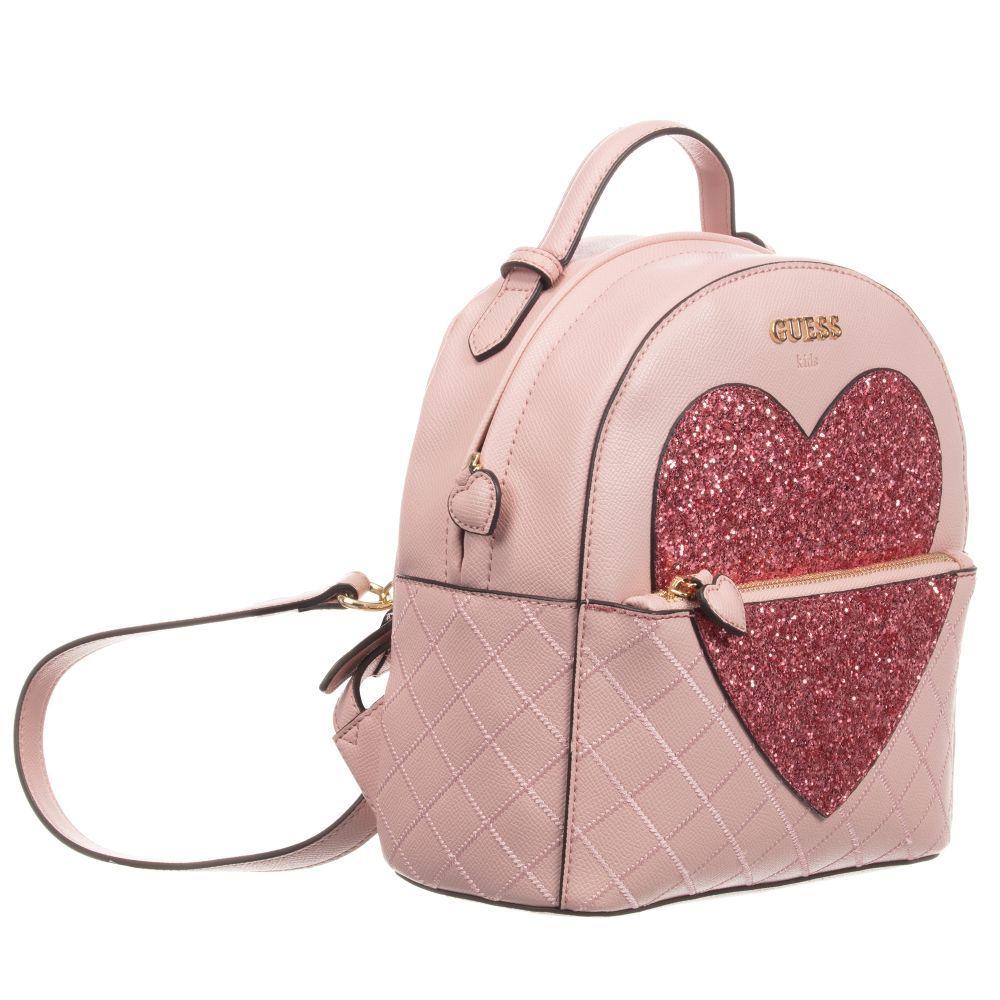 Guess Girls Pink Backpack (24cm) | Childrensalon | Mädchen