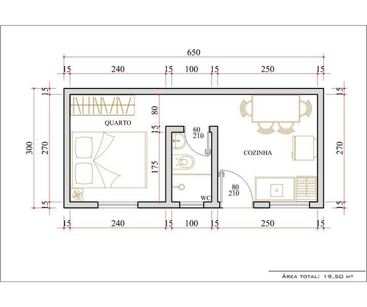 Suficiente casas-pequenas-com-1-quarto | plantas de casas | Pinterest | Casas  MG27