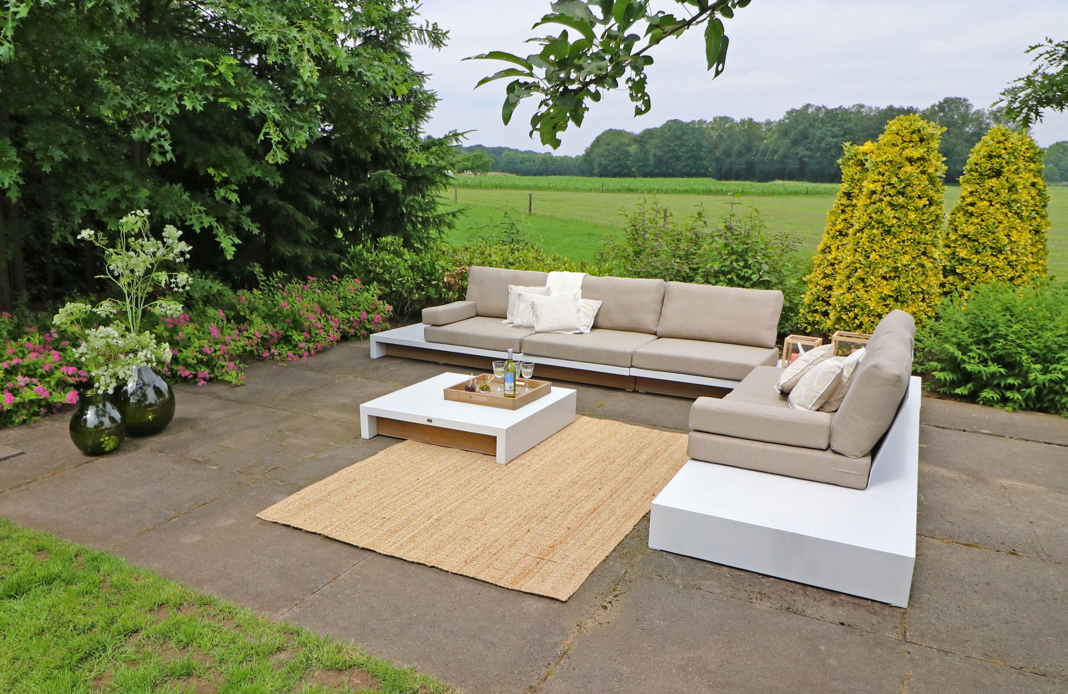 Loungeset heerlijke sets voor de grote tuin horizon tuinmeubelen