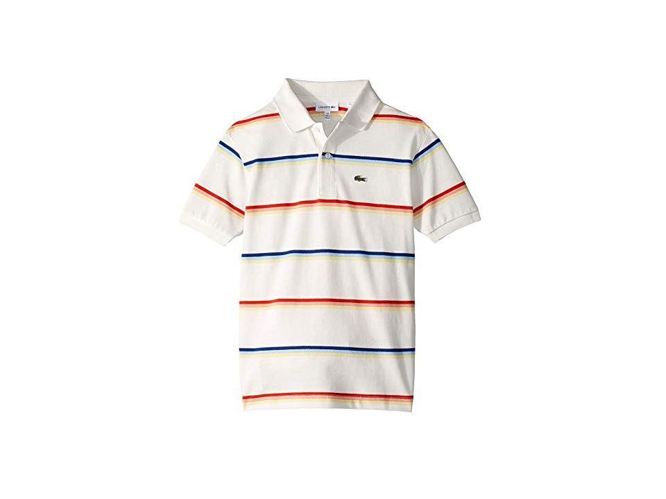 d351d53e Lacoste Kids Summer Lover Striped Pique Polo (Infant/Toddler/Little ...