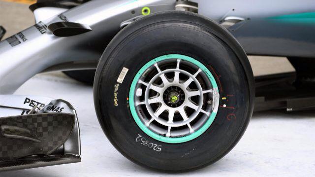 Merc 2017 tyre testing at silverstone
