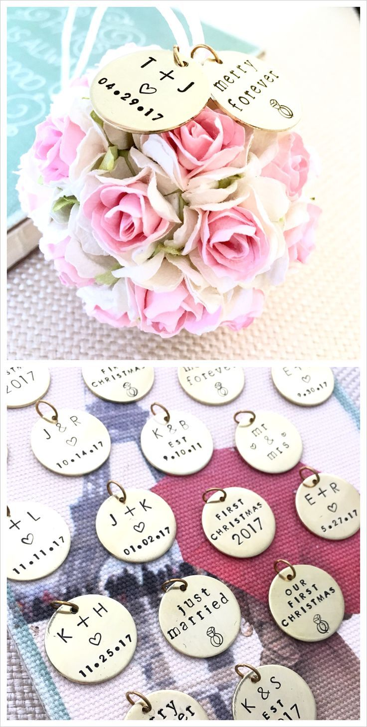 Personalized Wedding Gift First Christmas Ornament Wedding Gifts