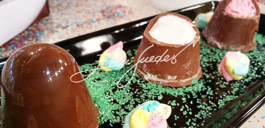Marshmallow coberto com chocolate