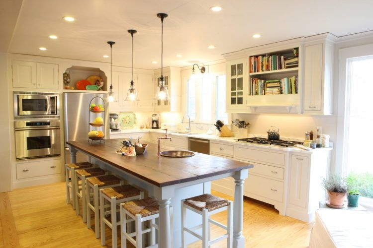 20 Gorgeous Kitchen Island Designs With Pendant Lights Eclectic Design Narrow Seating