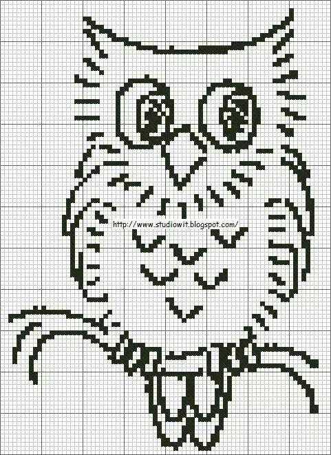 Gufo uncinetto | Owls | Pinterest | Patrones de cuentas, Punto de ...