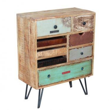 Meuble de rangement en bois color de manguier au look exotique d couvrez ce design tr s actuel - Meuble colore ...