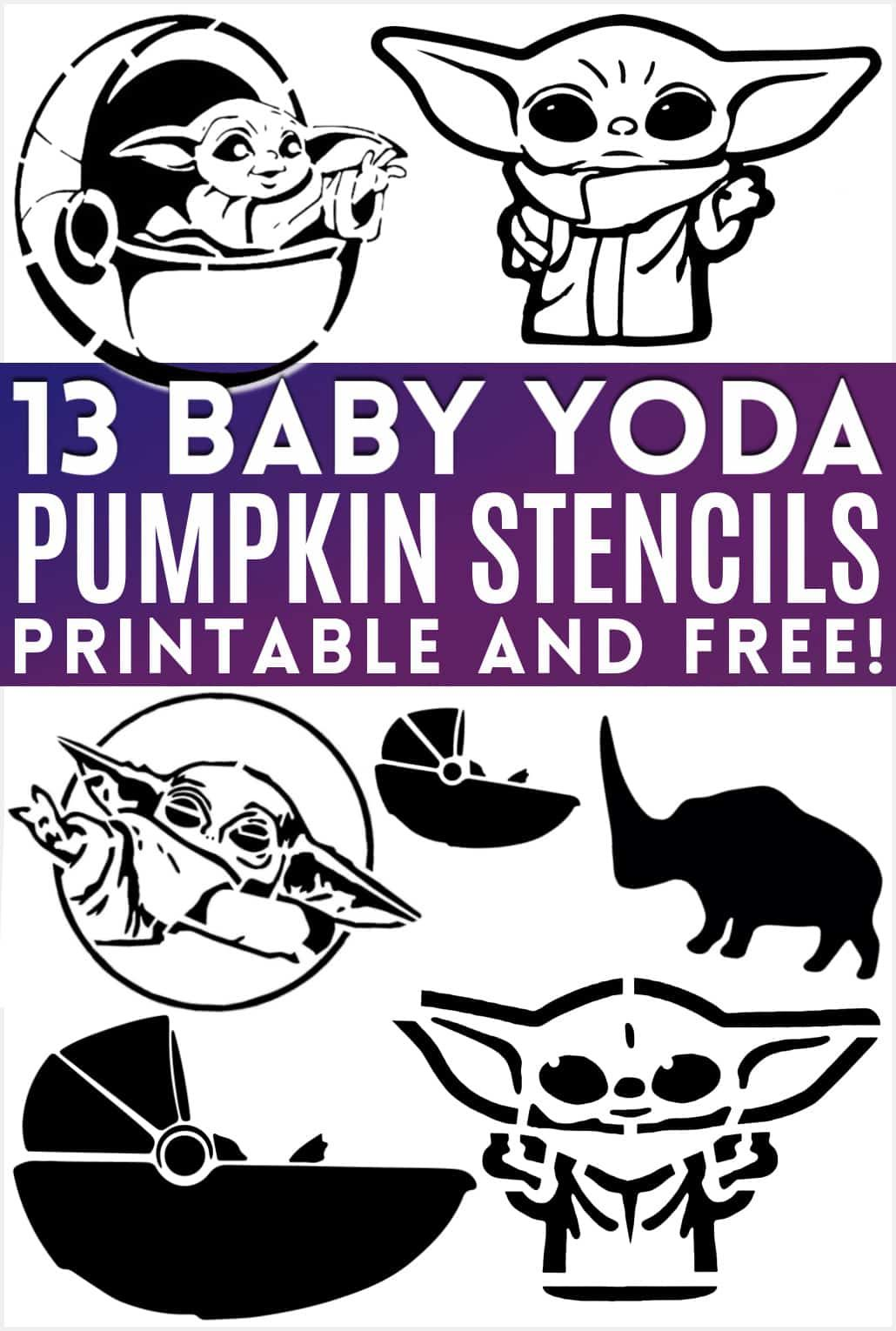 Free Baby Yoda Pumpkin Templates Download 13 Printable