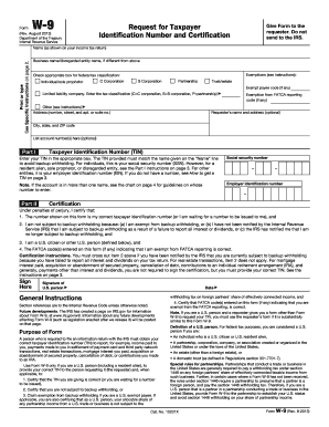 Easily Complete A Printable Irs W 9 Form 2013 Online Get Ready For This Year S Tax Season Quickly And Safely With Pdffiller Irs Forms Tax Forms Fillable Forms