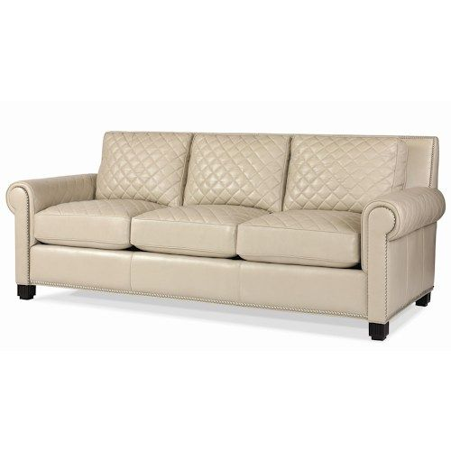 Cheap Sectional Sofas Century Leather Upholstery Quilted Leather Stationary Sofa