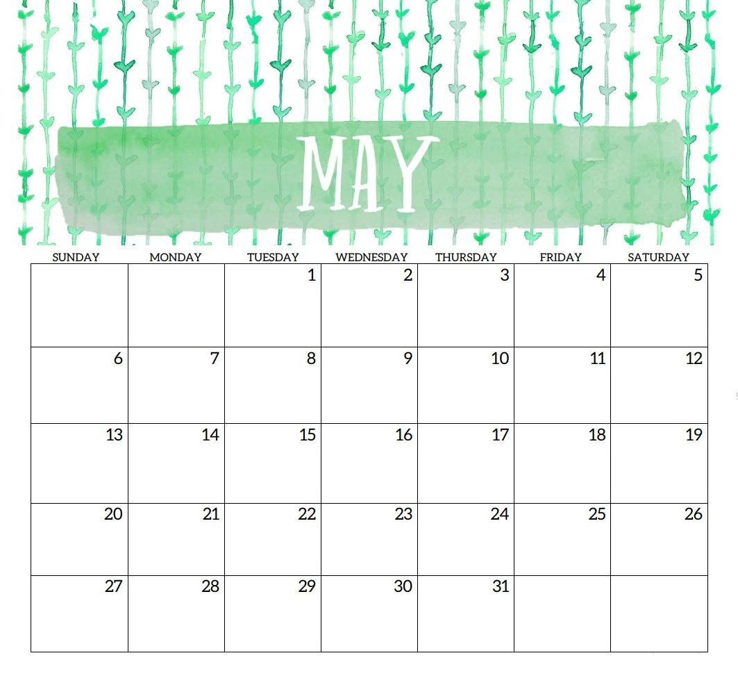 Blank May Planner Templates
