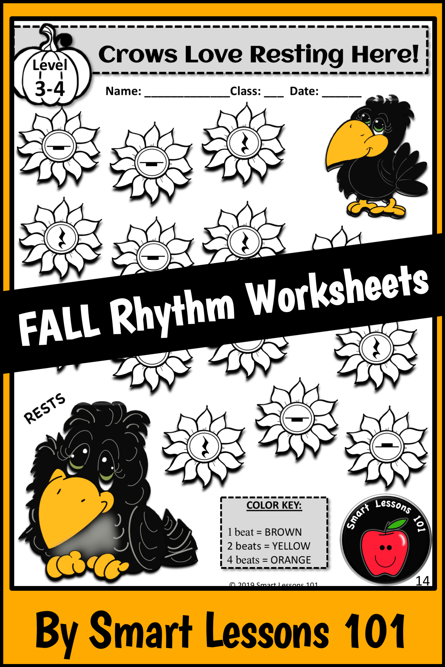 Distance Learning Fall Rhythm Worksheets Fall Music
