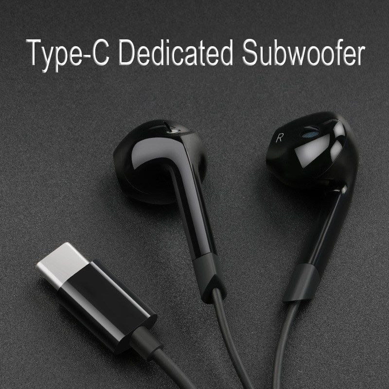 Langsdom Sports TYPEC plug wired Earphone E6T portable