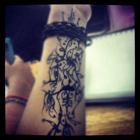 Dibujo en el brazo