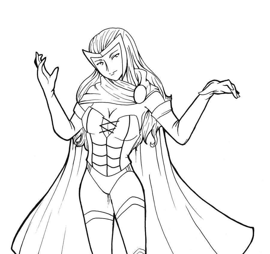 enchantress marvel coloring pages - photo#28