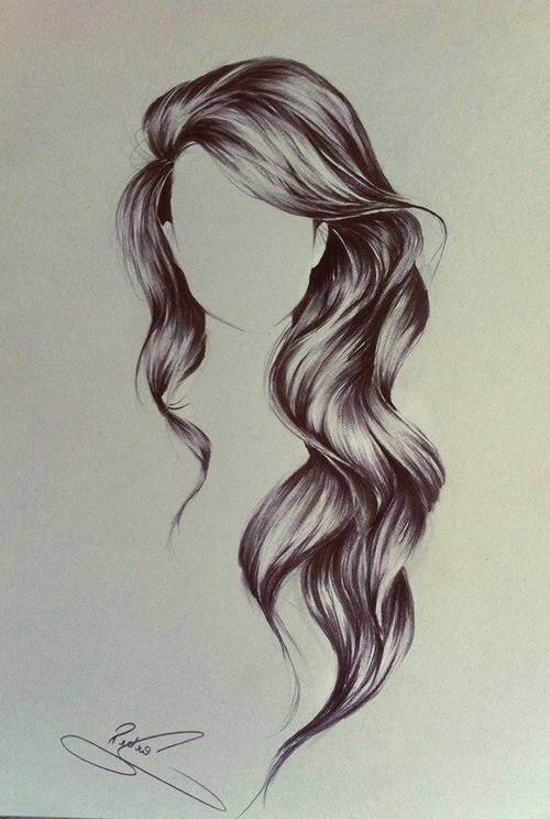 Coiffure cheveux long dessin