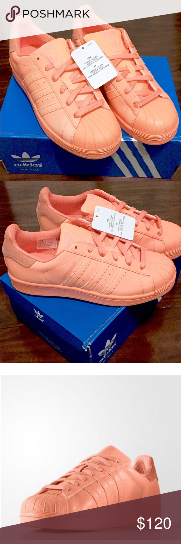 chaussures de sport 4f0c8 56381 Adidas Superstar Bright Mango Pre-Owned. Condition 9.5/10 ...