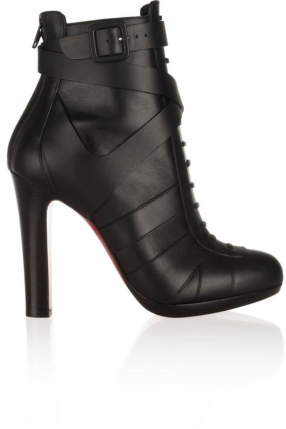 Christian Louboutin|Lamu 120 leather ankle boots|NET-A-PORTER.COM