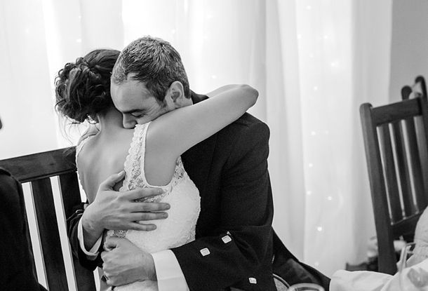 Intimate hug picture. Real Wedding at Allesverloren {Amanda