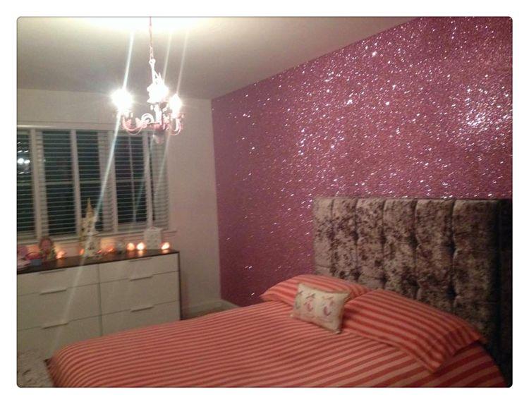 Pink Glitter Wallpaper Bedroom Ideas