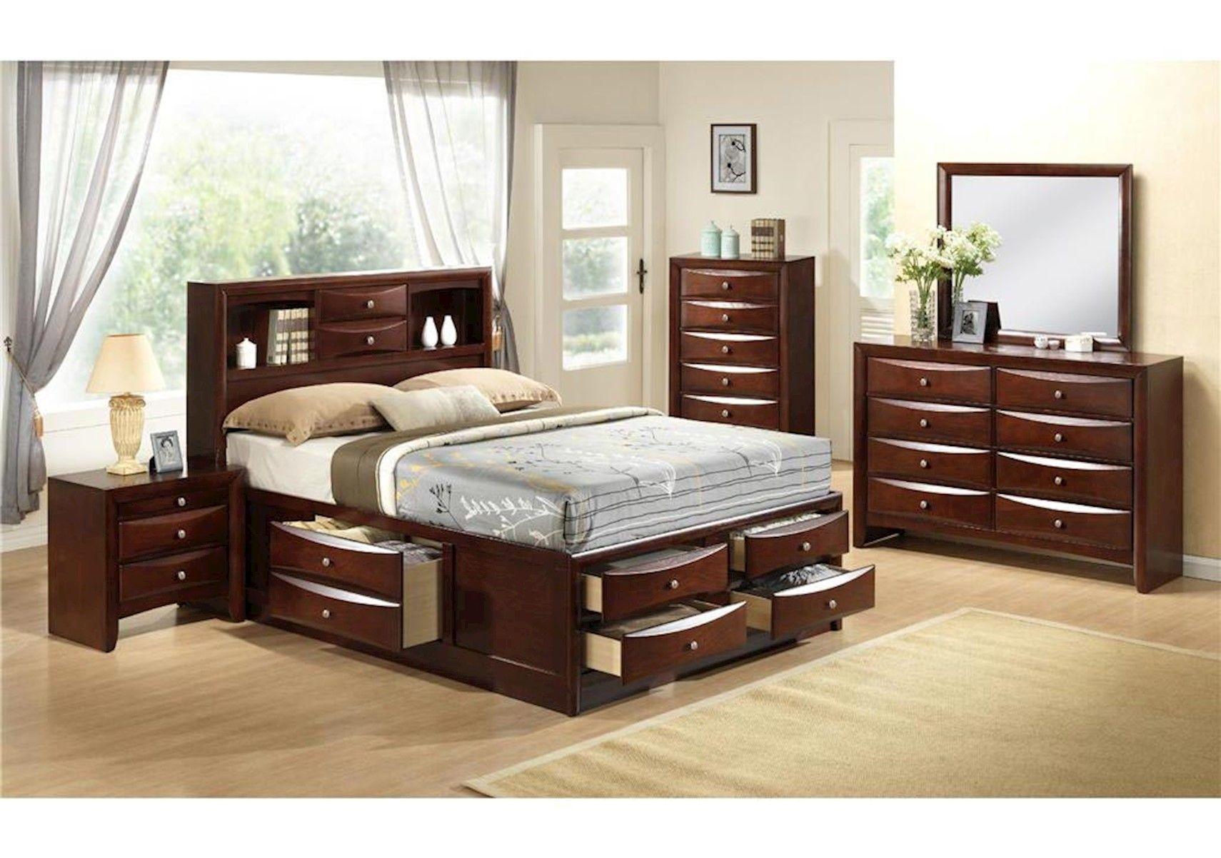 Lacks Emily 4Pc Queen Bedroom Set Bedroom furniture