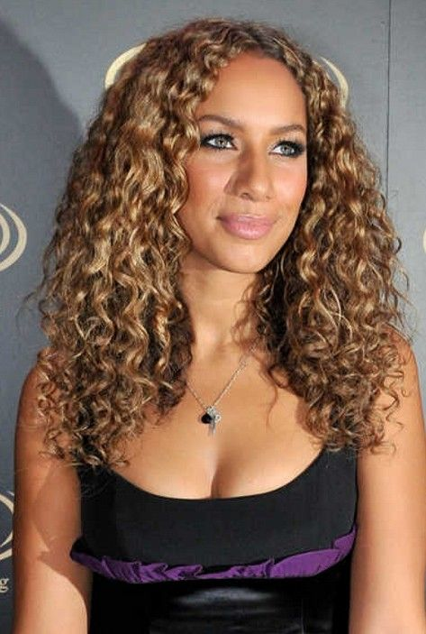 Caramel And Golden Blonde Highlights On Dark Brown Hair Style