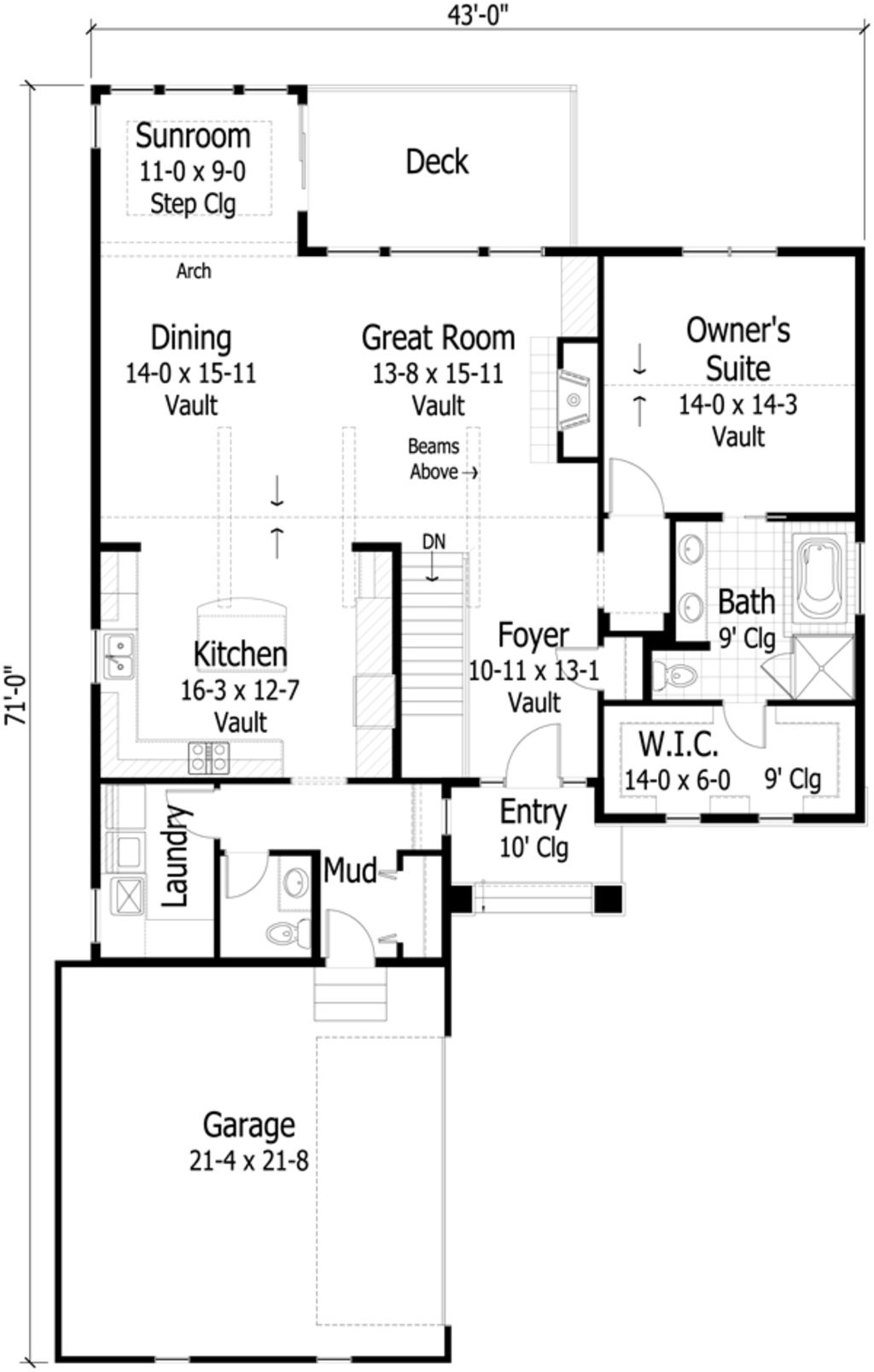 Country Style House Plan 3 Beds 2 5 Baths 2812 Sq Ft