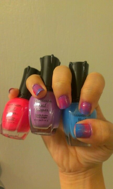 3 Color Ombre Nails My Nail Designs Pinterest Ombre
