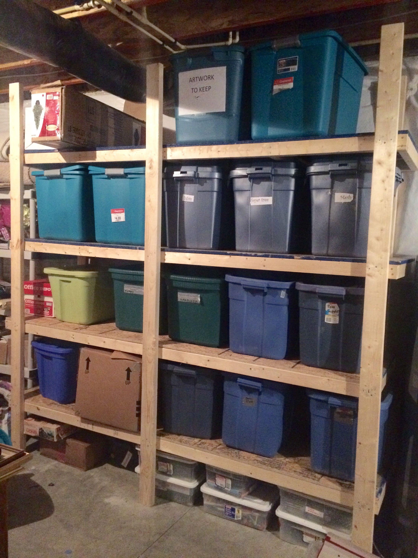 Our 70 Storage Bin Shelving (Part One) Garage storage