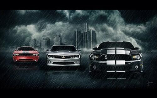 Dodge Challenger Vs Chevrolet Camaro Vs Ford Mustang Car Wallpapers Mustang Wallpaper Chevrolet Camaro