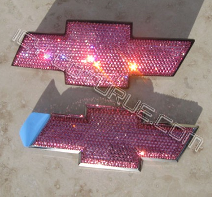 Most Chevy Models Pink Bowtie Emblems Select Your Set Pink