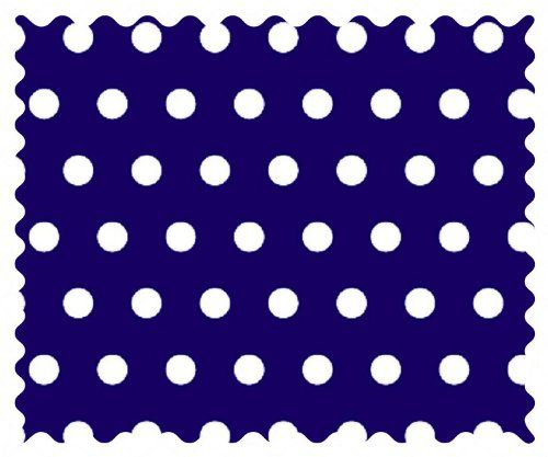 "SheetWorld Polka Dots Royal Fabric - By The Yard. 100% Cotton Percale. Approx. 44"". MADE IN USA!."