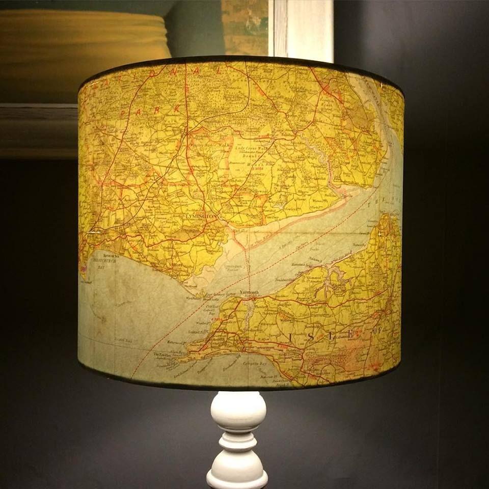 South Coast Vintage Map Lampshade Lampshades Lamp Shade Lamp