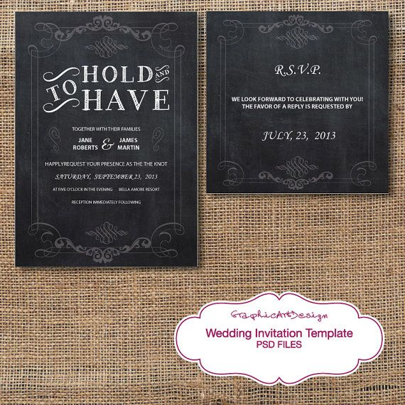 Print Your Own Wedding Invitations Templates: Swirls Wedding Invitation Suite Template, Rustic Wedding