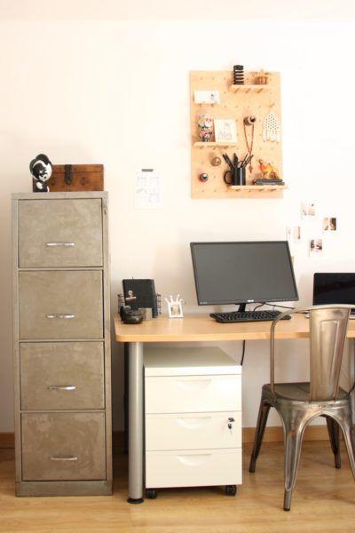 decapage d 39 un meuble tiroirs m tallique pour un style industriel diy bureau office. Black Bedroom Furniture Sets. Home Design Ideas