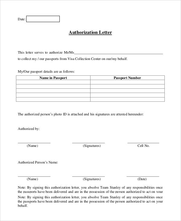authorization letter sample english best samples email pictures - letter of authorization letter