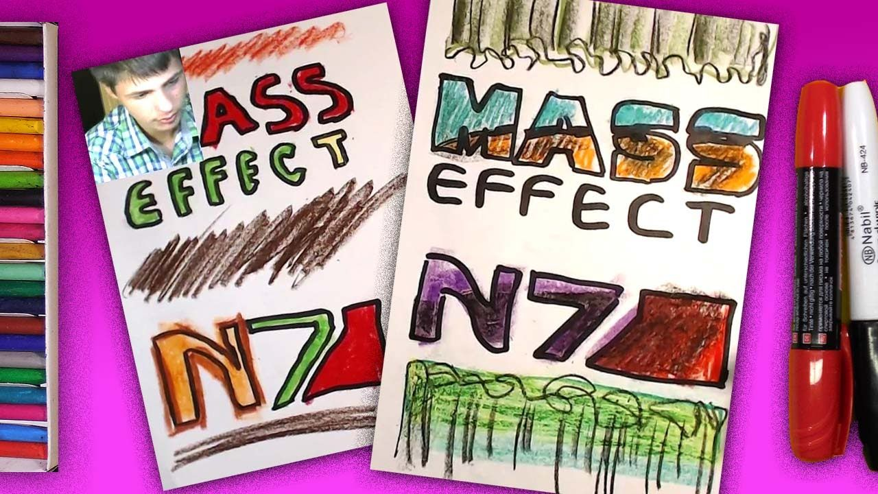 How to draw a logo  Mass Effect / Art for Kids