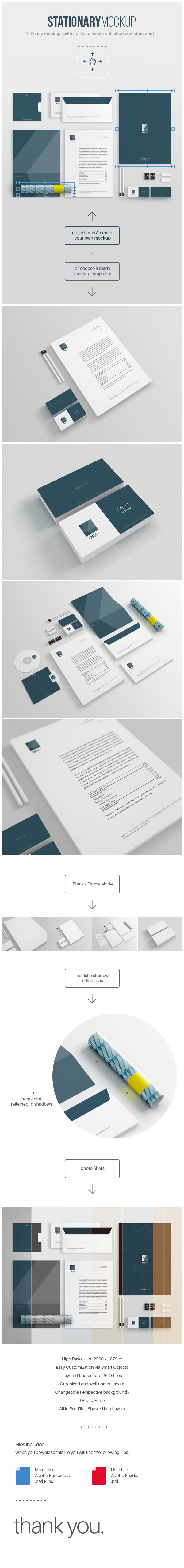 free stationery mockup on behance | design | typesetting, Presentation templates