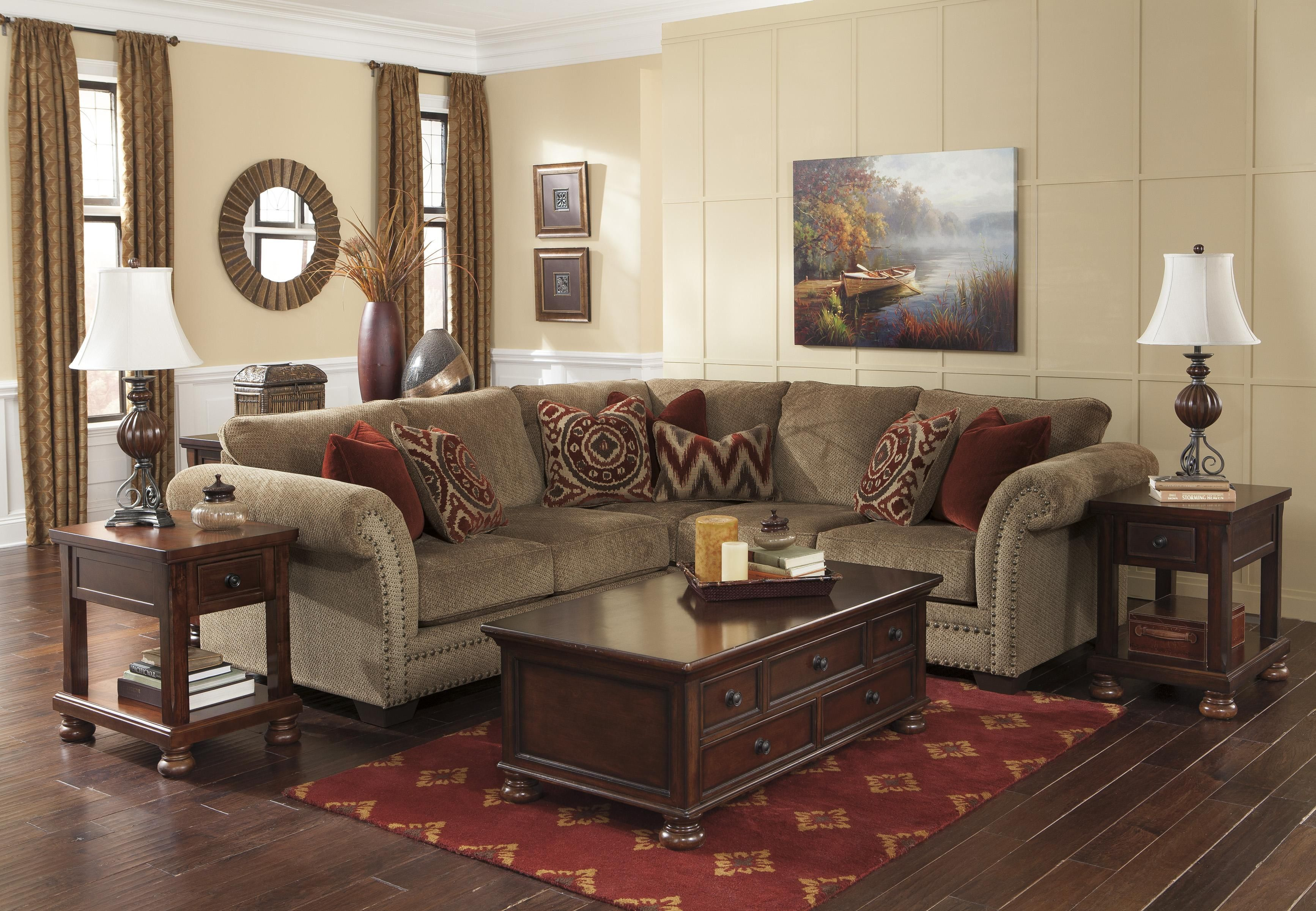 grecian  amber transitional 2piece sectional with left