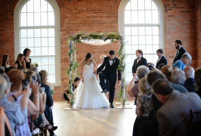 Breaking The Glass After A Jewish Wedding Ceremony Indoor With Brick Wall Urban Background Found On Modern Blog Photographer Wh