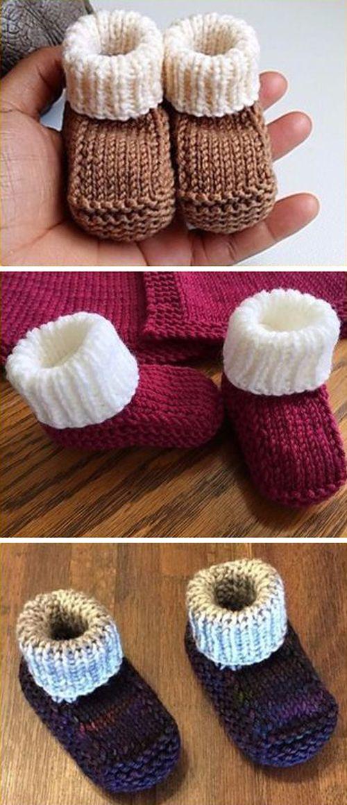 Newborn Booties - Free Pattern  #booties