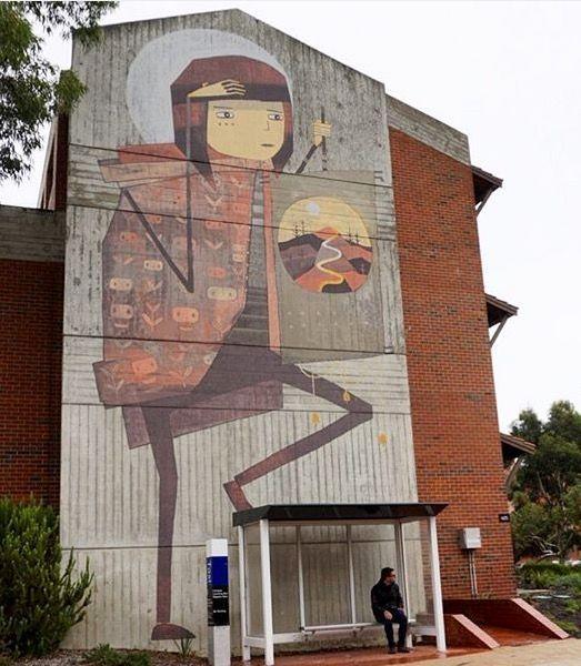 Kyle Hughes Odgers Curtin University In Perth Australia 2016 Environmental Art Street Art Graffiti Cool Art