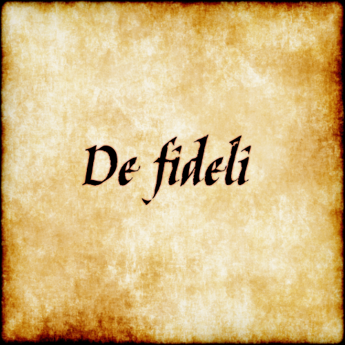 De fideli - With faithfulness.  #latin #phrase #quote #quotes - Follow us at facebook.com/LatinQuotesPhrases