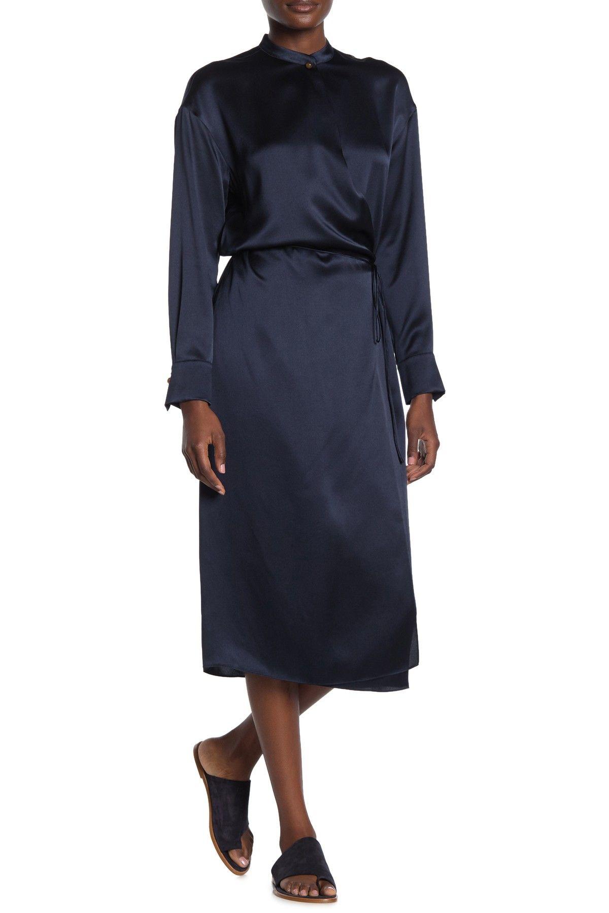 Vince Long Sleeve Silk Wrap Dress Nordstrom Rack Silk Wrap Dresses Wrap Dress Aesthetic Clothes [ 1800 x 1200 Pixel ]
