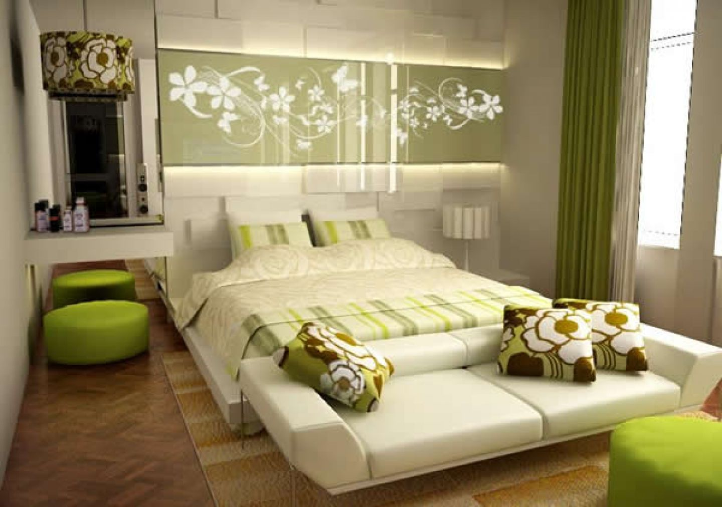 Bedroom decorating ideas feature wall - For Green Living Rooms Interior Design Ideas Rt