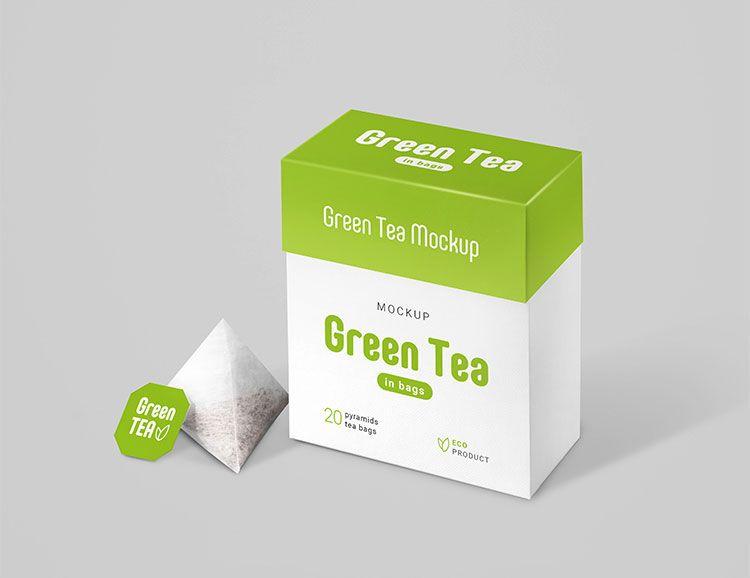 Download Free Tea Bags Package Mockup Mockuptree Tea Packaging Design Tea Packaging Free Tea