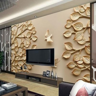 Wall Cupboard Inside Designs 3d wallpaper for tv wall units that will make a statement - home